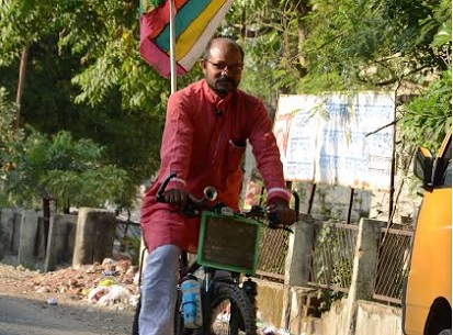 Gender  freedom  discrimination  cycling  cause  Rakesh Singh  Ride for Gender Freedom  India  bicycle