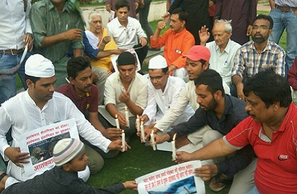 Protest  Amarnath Yatra  Bhopal  Demonstration  Against Terror  Terrorism  Kashmir  India