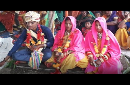 Polygamy  Marriage  Wedding  Man marries two women  Madhya Pradesh  Betul  Bizarre